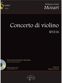 Wolfgang Amadeus Mozart: Concerto di Violino in G KV216 Books and CDs | Violin, Orchestra