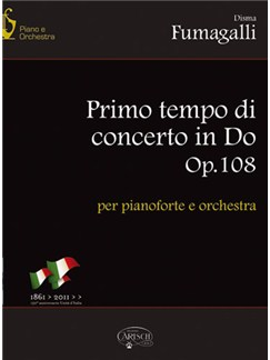 Disma Fumagalli: Primo Tempo di Concerto in Do Op.108 per Pianoforte e Orchestra Books and CDs | Piano, Orchestra