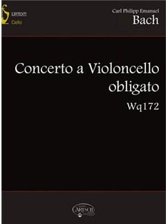 Carl Philipp Emanuel Bach: Concerto Violoncello Wq172+CD Books and CDs | Cello