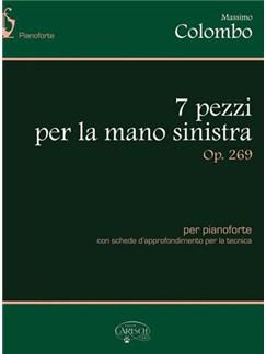 Massimo Colombo: 7 pezzi per la mano sinistra, Op.269 Books and CDs | Piano