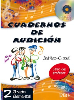 Cuadernos de Audición, 2 Grado Elemental (Libro del Profesor) CD y Libro | All Instruments