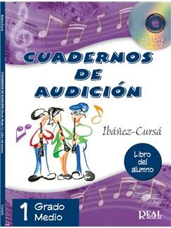 Cuadernos De Audición: Grado Medio - Libro Del Alumno (Book/CD) CD y Libro |