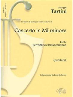 Giuseppe Tartini: Volume 06: Concerto in Mi Minore D 56 per Violino e Basso Continuo (Partitura) Books | Violin, Ensemble