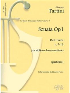 Giuseppe Tartini: Volume 08: Sonate Op.I (Stampa Originale di M.Ch.Le Céne)  Parte Seconda N.7-12 per Violino e B Books | Violin, Ensemble