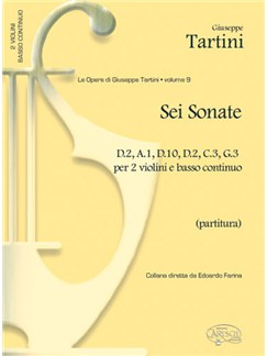 Giuseppe Tartini: Volume 09: 6 Sonate D2, A1, D10, D2, C3, G3, per 2 Violini e Basso Continuo (Partitura) Libro | Violín, Conjunto de Escuela
