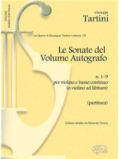 Giuseppe Tartini: Volume 19: Sonate del Volume Autografo, N.1-9 per Violino e Basso Continuo (o Violino ad Libitum) Books | Violin, Ensemble
