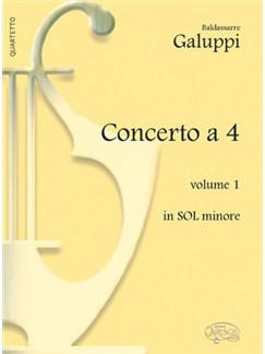 Baldassarre Galuppi: Concerto a 4 - Volume 1, in Sol Minore Libro | Piano