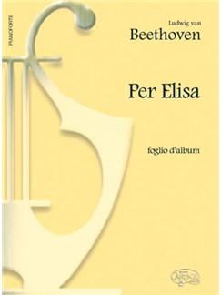 Ludwig Van Beethoven: Per Elisa (Foglio d'album) Libro | Piano