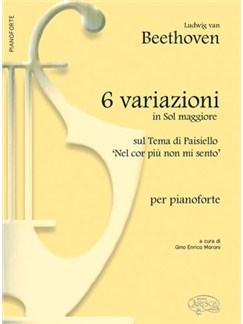 Beethoven 6 Variazioni G Maj Pf Bk Books |