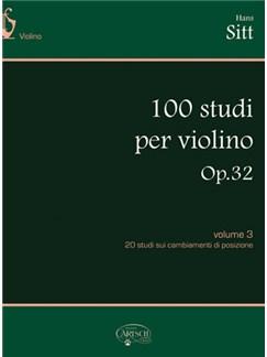 Hans Sitt: 100 Studi Op.32, per Violino - Volume 3 Books | Violin