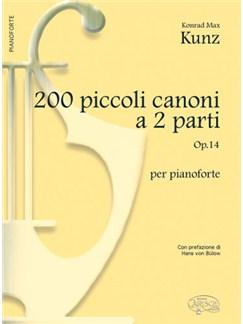 200 Piccoli Canoni, a 2 Parti Op.14, per Pianoforte Books | Piano