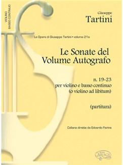 Giuseppe Tartini: Volume 21a: Sonate del Volume Autografo, N.19-23 per Violino e Basso Continuo (o Violino ad Libitum) Books | Violin, Ensemble