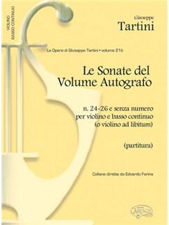 Giuseppe Tartini: Volume 21b: Sonate del Volume Autografo, N.24-26 e senza numero per Violino e Basso Continuo (Partitura) Books | Violin, Ensemble