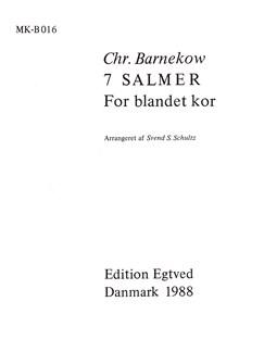 Christian Barnekow: 7 Salmer (SATB) Books | SATB