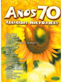 Años 70 - Recuerdos Inolvidables Books | Piano, Vocal & Guitar