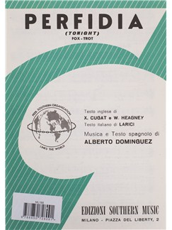 Alberto Dominguez: Perfidia Books | Melody Line, Lyrics & Chords