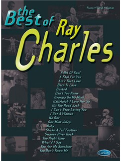 The Best of Ray Charles Books | Piano, Vocal & Guitar
