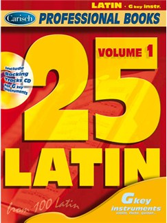 25 Latin, Volume 1  (Gkey Instr.) Books and CDs | C Instruments