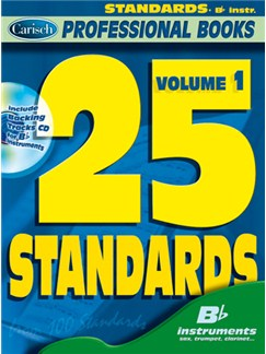 25 Standards, Volume 1 (Bb Instr.) CD et Livre | Instruments À Bb