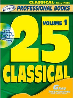25 Classical, Volume 1 (G key Instr.) Books and CDs | C Instruments