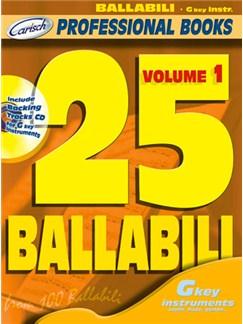 25 Ballabili, Volume 1 (Gkey Instr.) Books and CDs | C Instruments