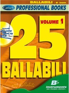 25 Ballabili, Volume 1 (Bb Instr.) Books and CDs | B Flat Instruments