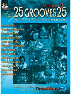 25 Grooves 25, Volume 2 Books and CDs | Drums