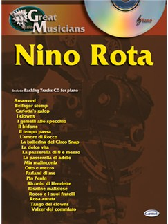 Nino Rota: Great Musicians Series CD et Livre | Piano