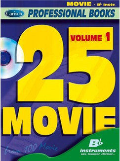 25 Movie, Volume 1 (Bb Instr.) Books and CDs | B Flat Instruments