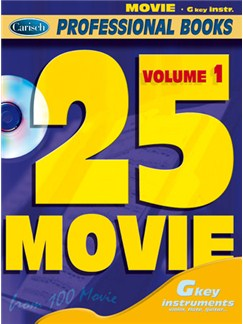 25 Movie, Volume 1 (Gkey Instr.) Books and CDs | C Instruments