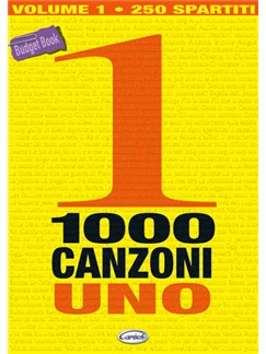 1000 Canzoni, Volume 1 (250 Spartiti) Books | Guitar
