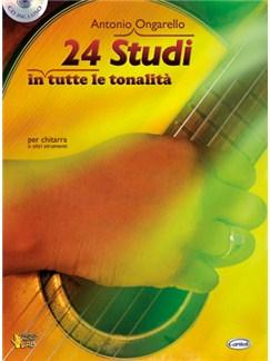 24 Studi in tutte le tonalità per chitarra o altri strumenti Books and CDs | Guitar
