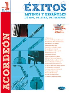 Éxitos Latinos Y Españoles De Hoy, De Ayer, De Siempre CD y Libro   Acordeón