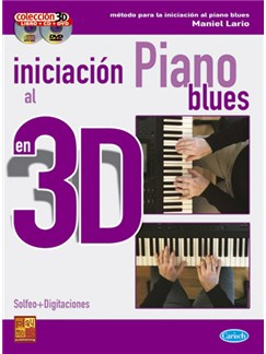 Iniciación al Piano Blues en 3D CD, DVDs / Videos y Libro | Piano