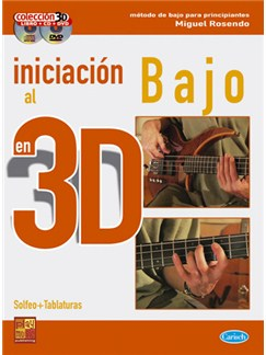 Iniciación al Bajo en 3D CD, DVDs / Videos y Libro | Bass Guitar