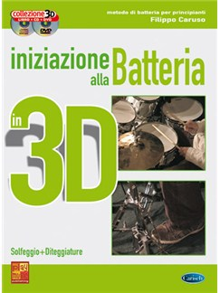 Iniziazione alla Batteria in 3D Books, CDs and DVDs / Videos | Drums