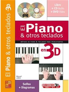 El Piano & otros Teclados en 3D CD, DVDs / Videos y Libro | Piano