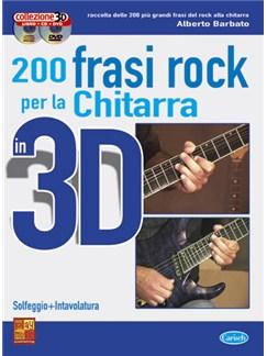 200 Frasi Rock per Chitarra in 3D Books, CDs and DVDs / Videos | Guitar