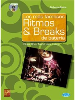 Los más famosos Ritmos & Breaks de Batería CD y Libro | Drums