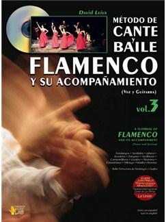 Método de Cante y Baile Flamenco y su Acompañamiento, Vol.3 (Voice & Guitar) Books and CDs   Guitar, Guitar Tab, Voice