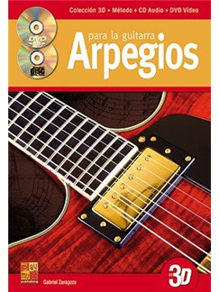 Arpegios para la Improvisación en La Guitarra en 3D CD, DVDs / Videos y Libro | Guitar