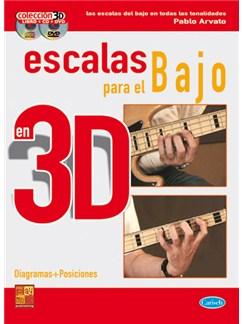 Escalas para el Bajo en 3D CD, DVDs / Videos y Libro | Bass Guitar