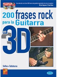 200 Frases Rock para la Guitarra en 3D CD, DVDs / Videos y Libro | Guitar