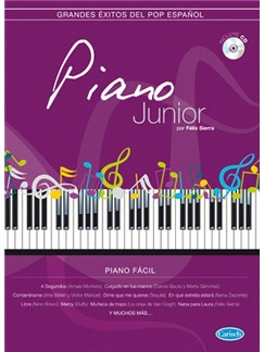 Piano Junior: Grandes Exitos Del Pop Español CD y Libro | Piano