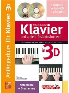 Anfängerkurs für Klavier und Andere Tasteninstrumente in 3D Books, CDs and DVDs / Videos | Piano