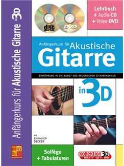 Anfängerkurs für Akustische Gitarre in 3D Books, CDs and DVDs / Videos | Guitar