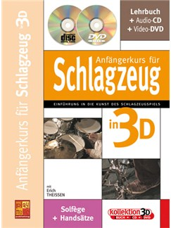Anfängerkurs für Schlagzeug in 3D Books, CDs and DVDs / Videos | Drums