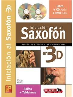 Iniciación al Saxofón en 3D CD, DVDs / Videos y Libro | Saxophone
