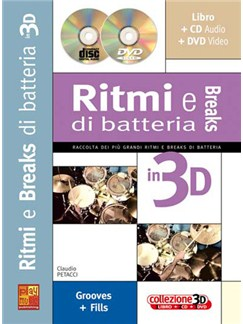 Ritmi e Breaks alla Batteria in 3D Books, CDs and DVDs / Videos | Drums