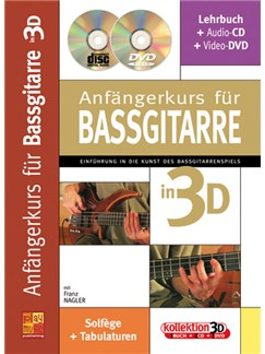 Anfängerkurs für Bassgitarre in 3D Books, CDs and DVDs / Videos | Bass Guitar